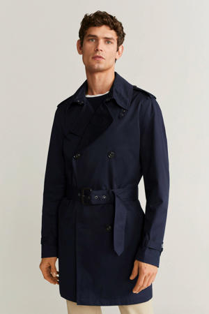 trenchcoat marineblauw