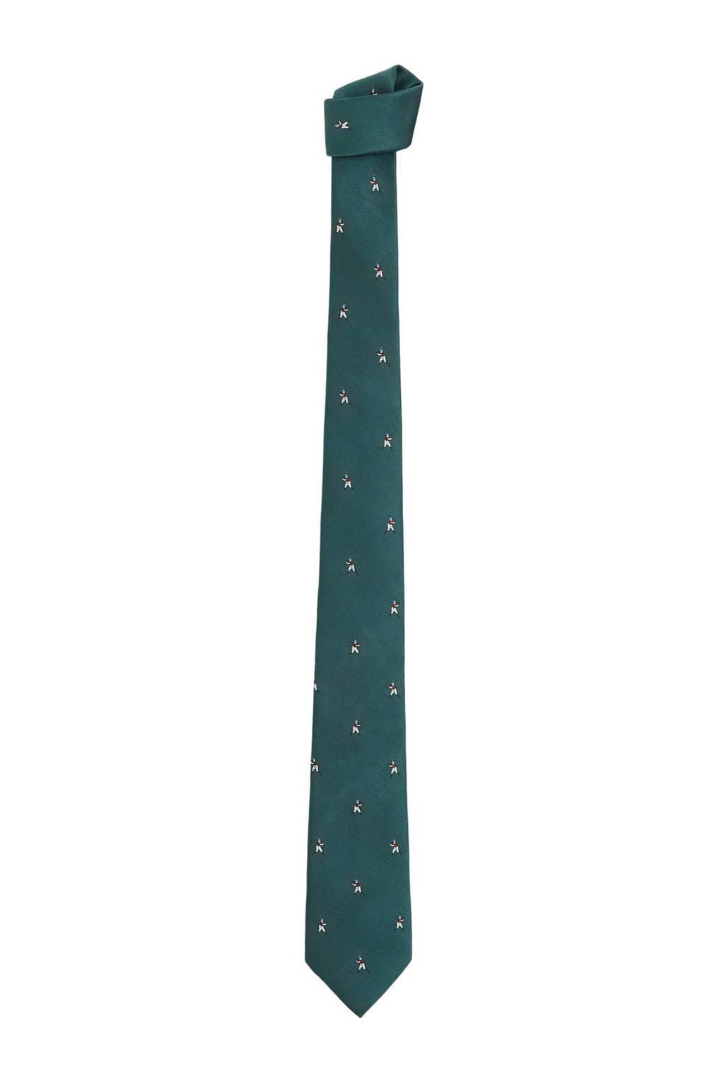 Mango Man stropdas groen, Groen