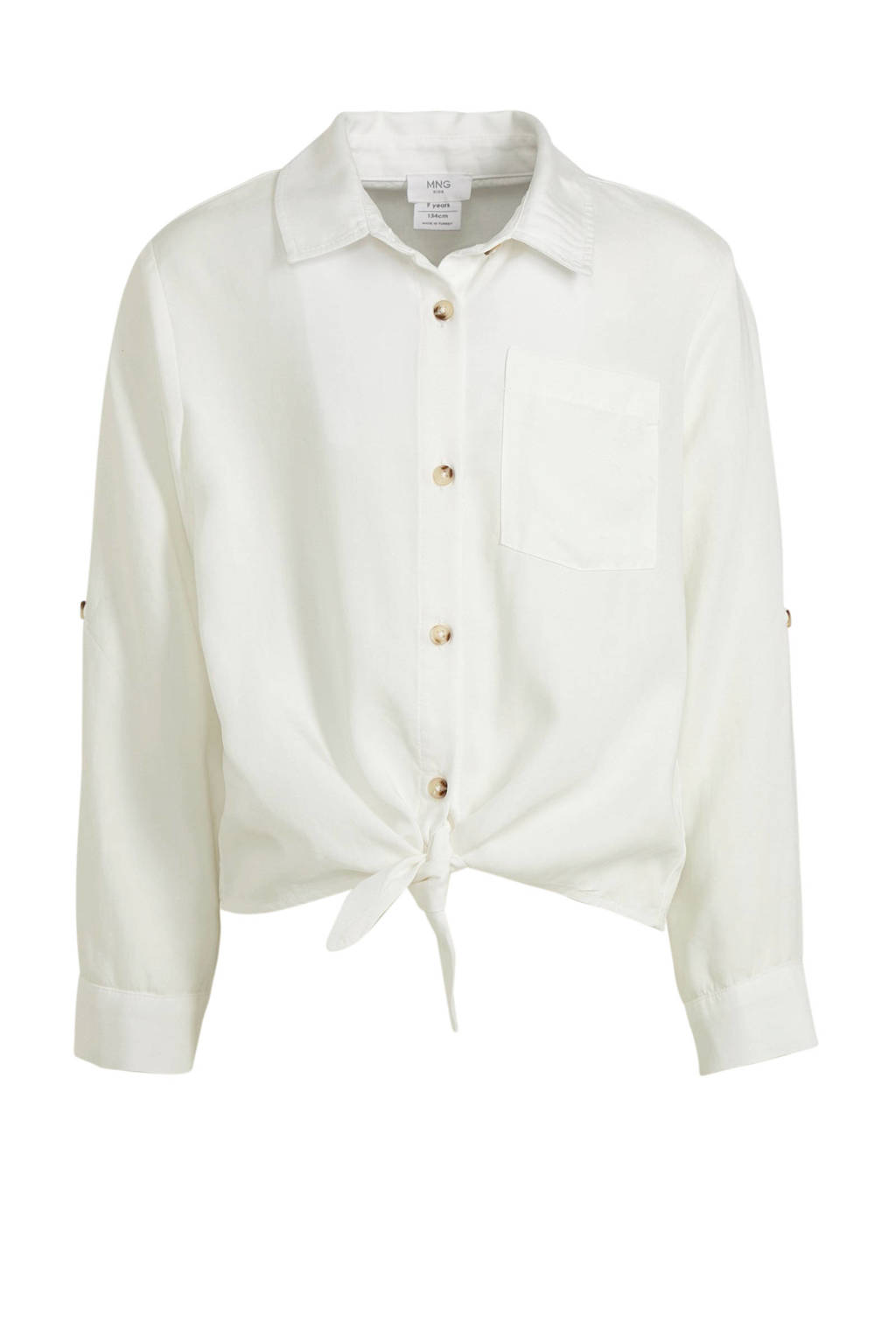 Mango Kids blouse wit, Wit