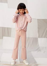 Mango Kids blouse lichtroze, Lichtroze