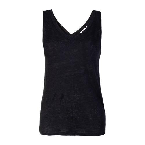 WE Fashion linnen singlet zwart