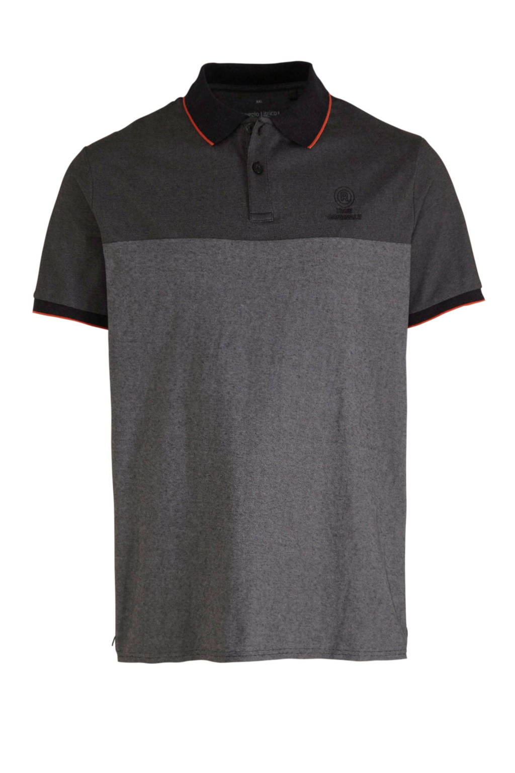 C&A XL Angelo Litrico regular fit polo zwart, Zwart