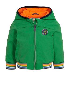 baby zomerjas met contrastbies groen