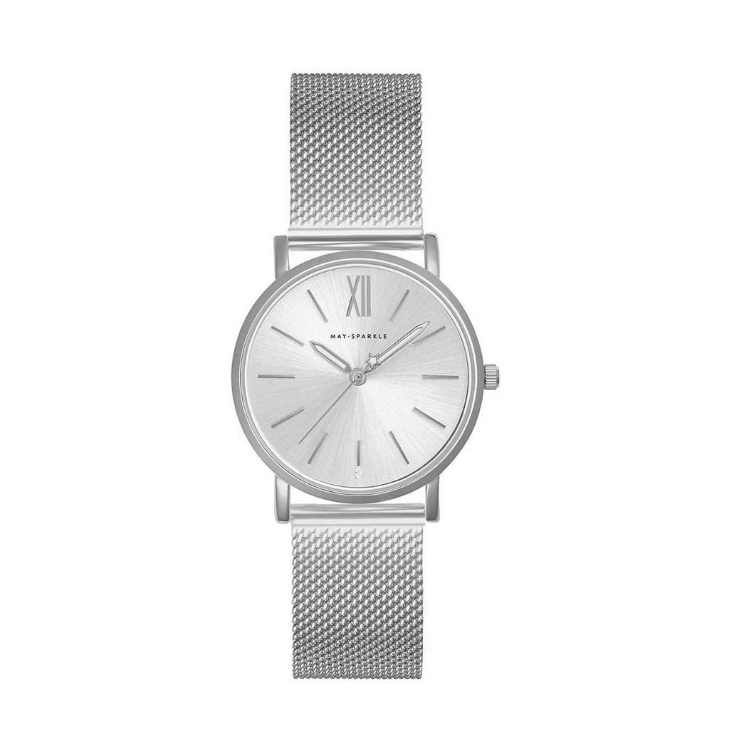 May Sparkle Bloom Girl Bloom Dahlia horloge MSB000 zilver, Zilverkleurig