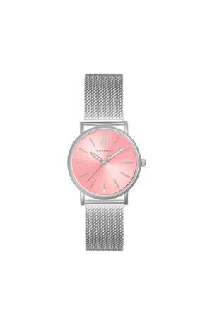 horloge MSB004 zilverkleurig/roze