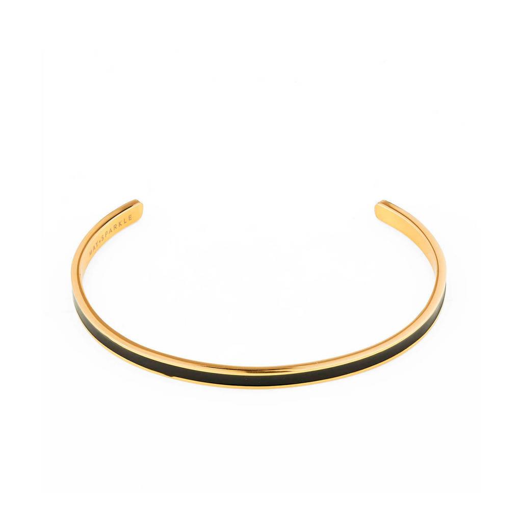 May Sparkle armband MS10002 goudkleurig/zwart, Goudkleurig/zwart