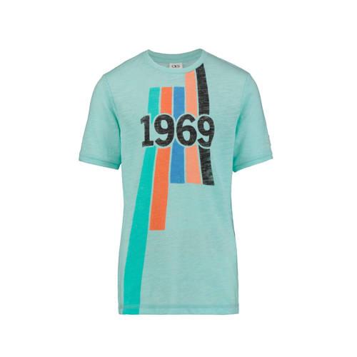 CKS KIDS T-shirt Yves met printopdruk mintgroen