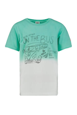 T-shirt Yuben met printopdruk mintgroen/wit