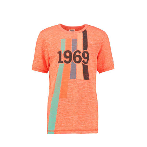 CKS KIDS T-shirt Yves met printopdruk oranje