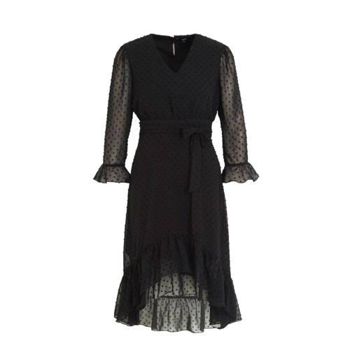 Tigha semi-transparante jurk Jessamin en ceintuur