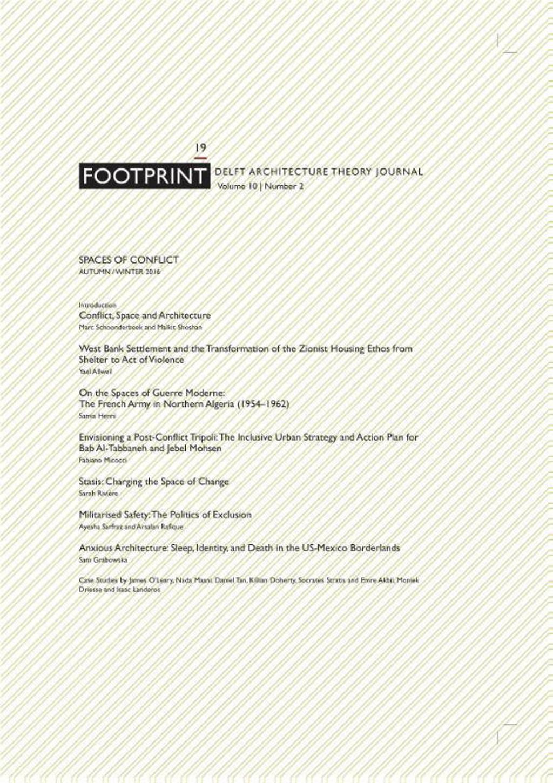 Footprint 19 Vol. 10 Spaces of conflict