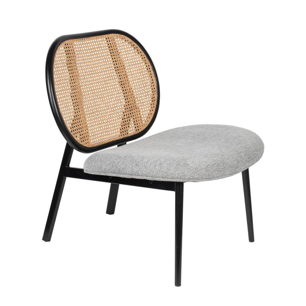 Zuiver fauteuil Spike, Grijs/naturel