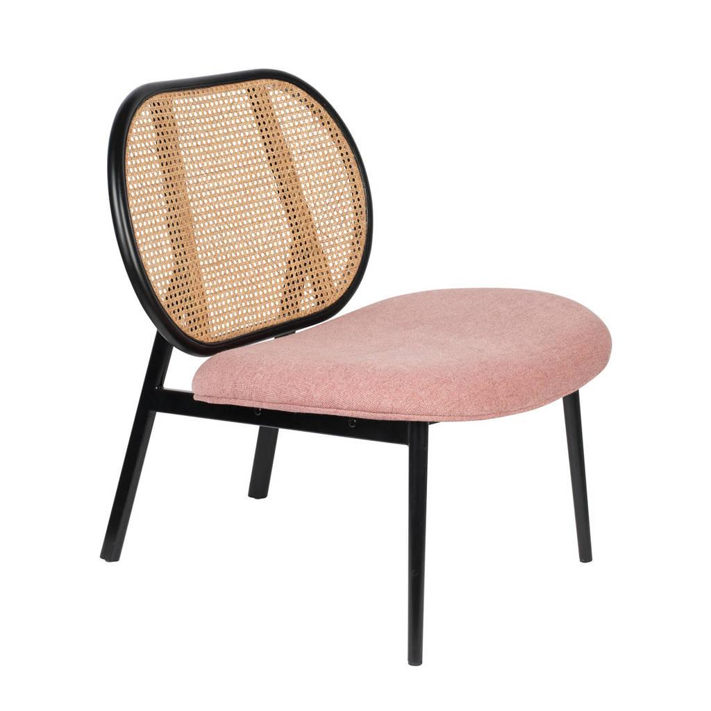 Zuiver fauteuil Spike, Roze/naturel