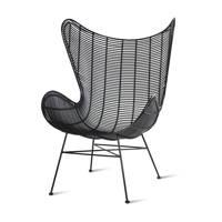 HKliving Egg stoel, Zwart