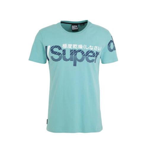 Superdry T-shirt met printopdruk groen