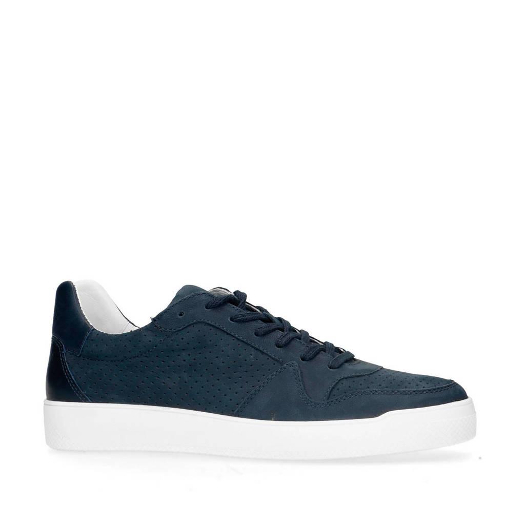 Sacha   leren sneakers donkerblauw, Donkerblauw