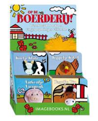 Vingerpopboekjes: Boederijdieren 4x4 (varken,paard,koe & kip)