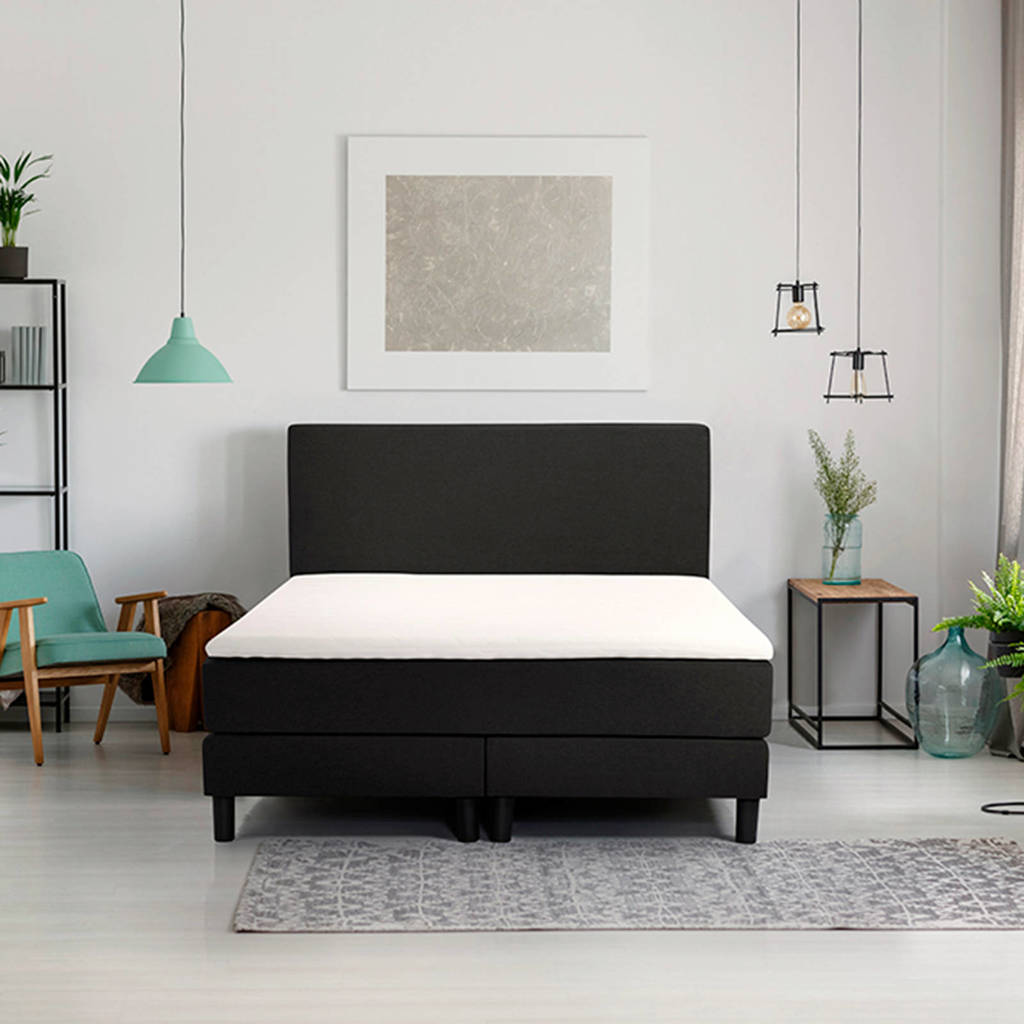 Beter Bed complete boxspring Ambra (140x200 cm), Zwart