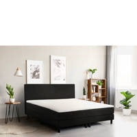 Beter Bed complete boxspring Cisano 180x210 (180x210 cm), Zwart