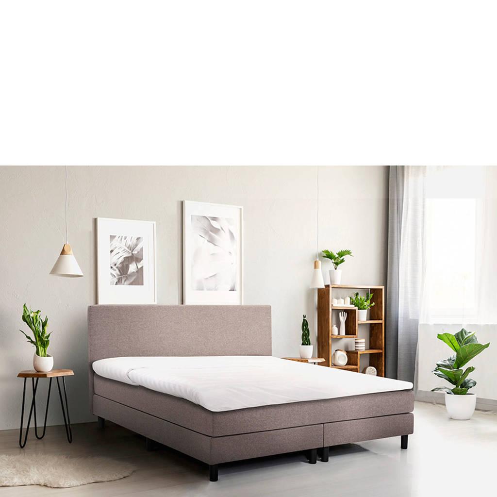 Beter Bed complete boxspring Cisano 120x210 (120x210 cm), Lichtgrijs