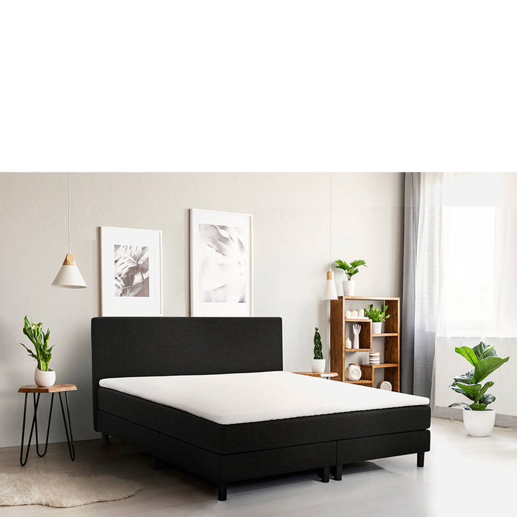 Beter Bed complete boxspring Cisano (90x200 cm), Zwart