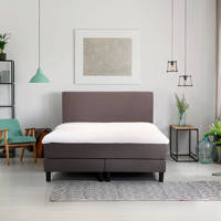 Beter Bed complete boxspring Ambra (140x200 cm), Donkergrijs