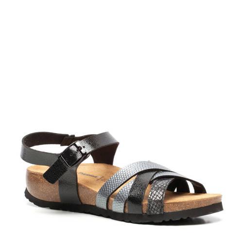 Hush Puppies sandalen zwart/zilver