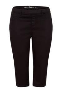 Miss Etam Plus high waist skinny capri Zumba zwart, Zwart