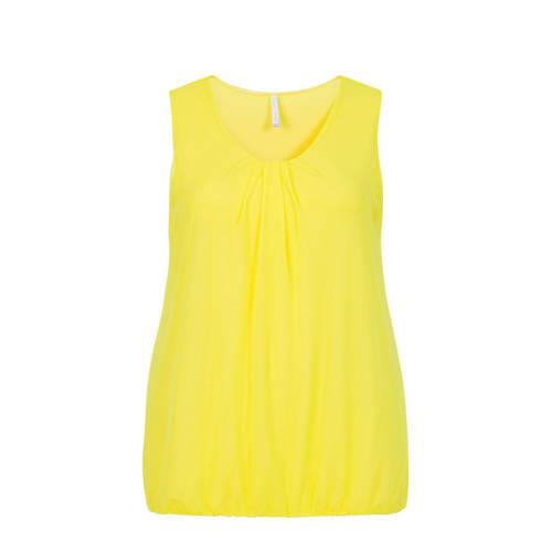 Miss Etam Plus top en plooien geel