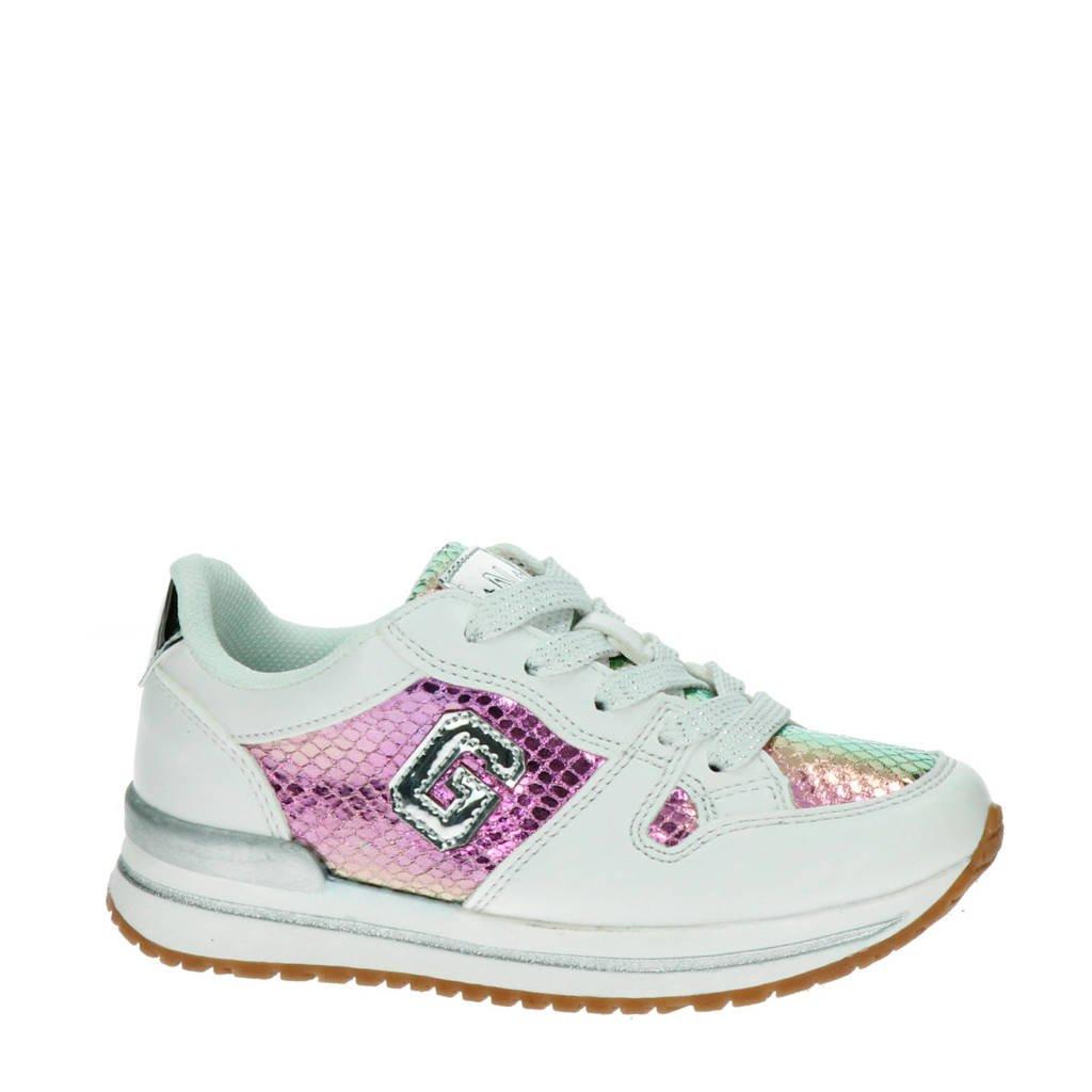Nelson Kids   sneakers wit/roze, Wit/roze