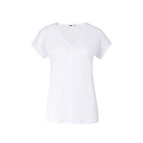 WE Fashion linnen T-shirt wit