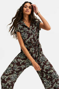 WE Fashion jumpsuit met all over print winetasting, Winetasting
