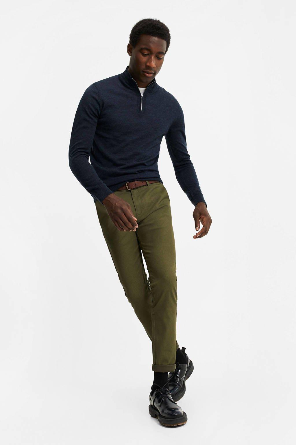WE Fashion skinny chino olijfgroen, Olijfgroen