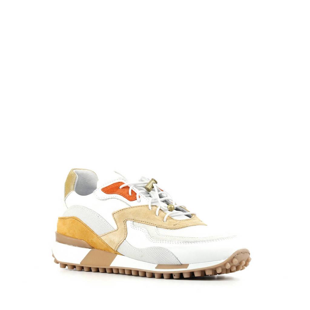 Via Vai 5410002   leren sneakers wit/multi, Wit/multi