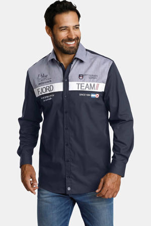 loose fit overhemd Plus Size Baldur donkerblauw