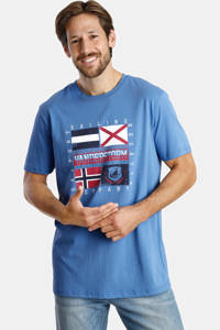 Jan Vanderstorm T-shirt Plus Size Preben - (set van 2 ), Donkerblauw/blauw