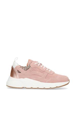suède dad sneakers roze