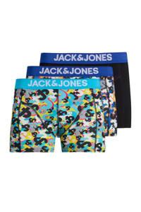 JACK & JONES boxershort (set van 3), Zwart/blauw
