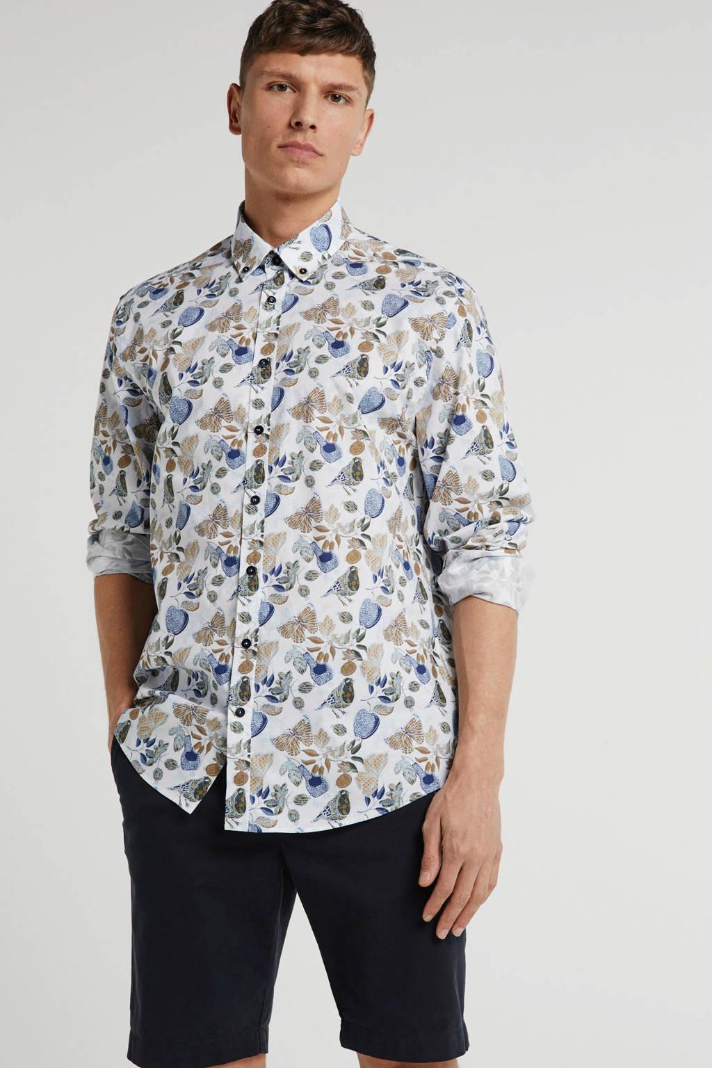 State of Art regular fit overhemd met all over print meerkleurig, Meerkleurig