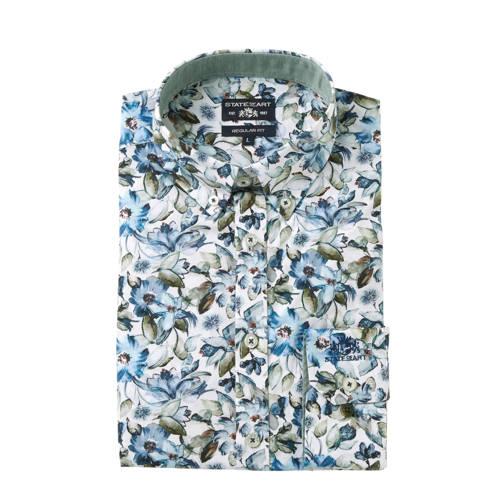 State of Art regular fit overhemd met all over pri