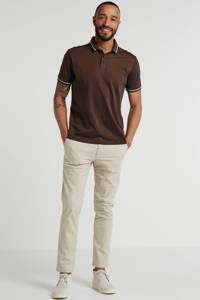 State of Art regular fit polo bruin, Bruin