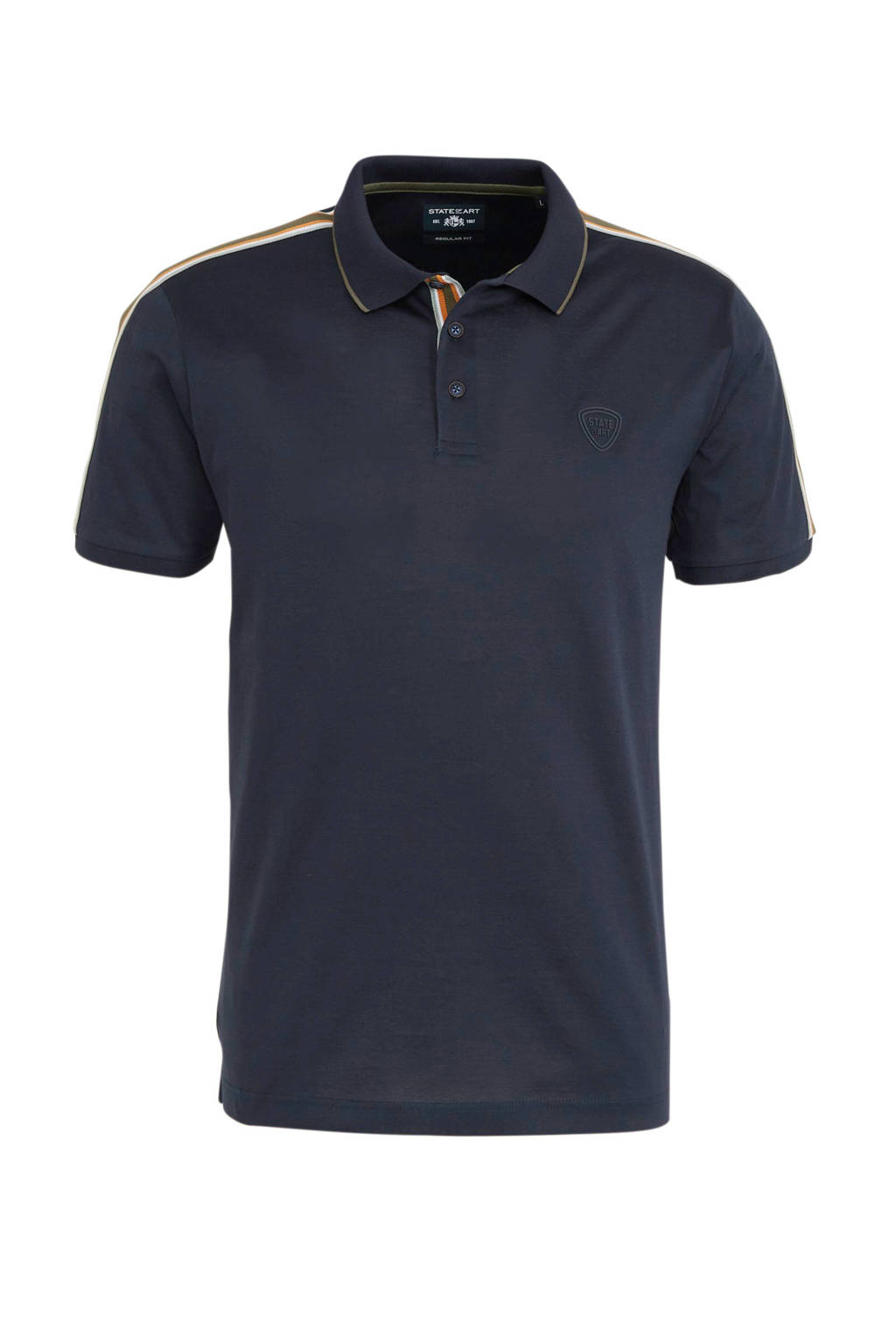 State of Art regular fit polo met logo marine, Marine