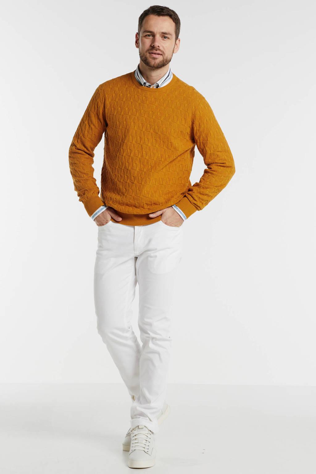 State of Art gemêleerde trui oranje, Oranje