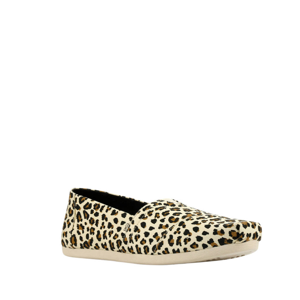 Toms Alpargata Leopard instappers panterprint, Bruin/beige
