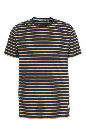 gestreept T-shirt donkerblauw