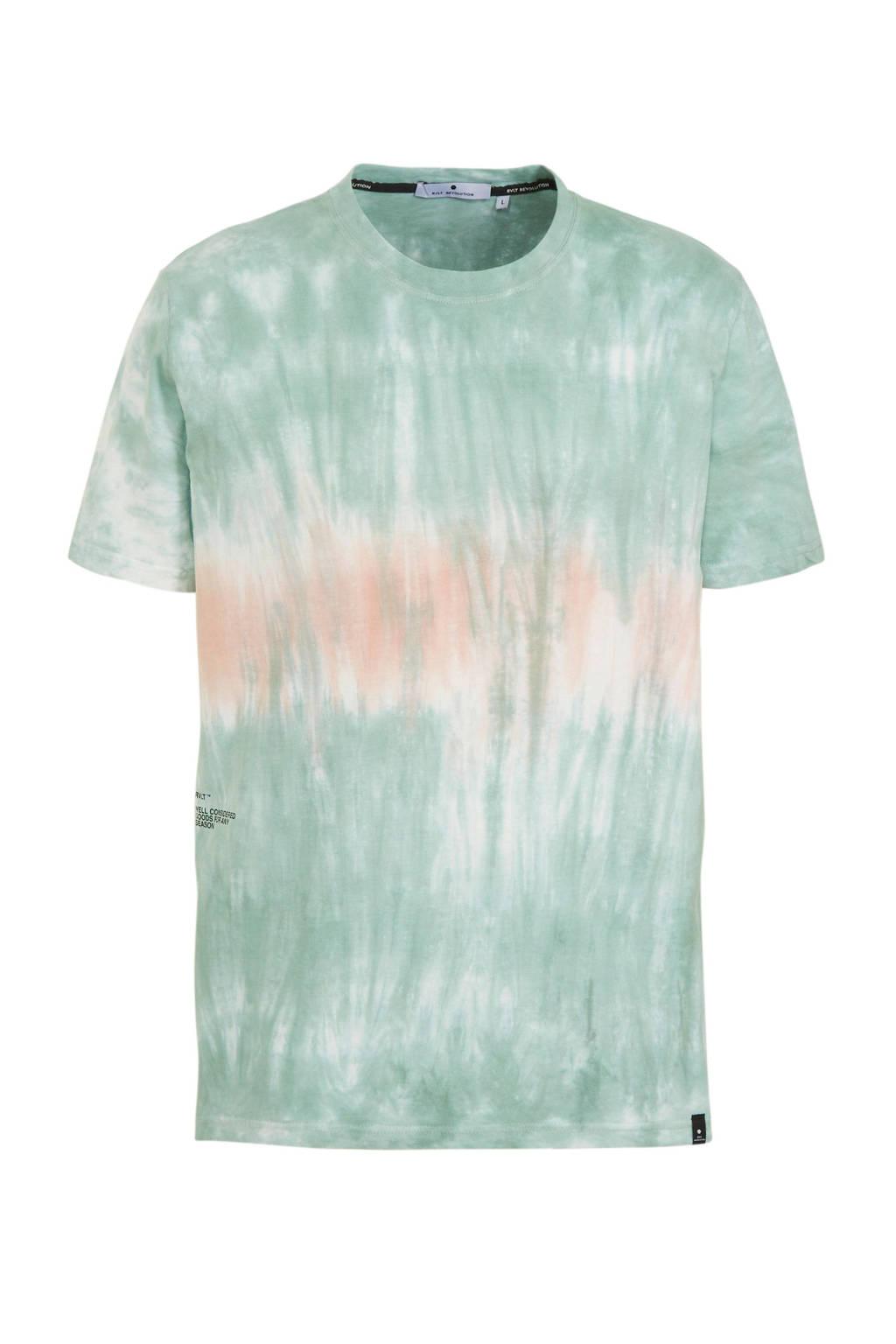 RVLT gemêleerd T-shirt lichtblauw, Lichtblauw