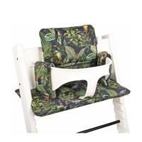 Ukje kussenset voor kinderstoel Stokke Tripp Trapp jungleprint groen, Groen
