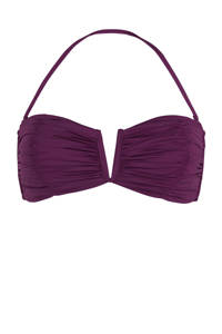 Seafolly strapless bandeau bikinitop paars, Paars
