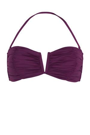strapless bandeau bikinitop paars