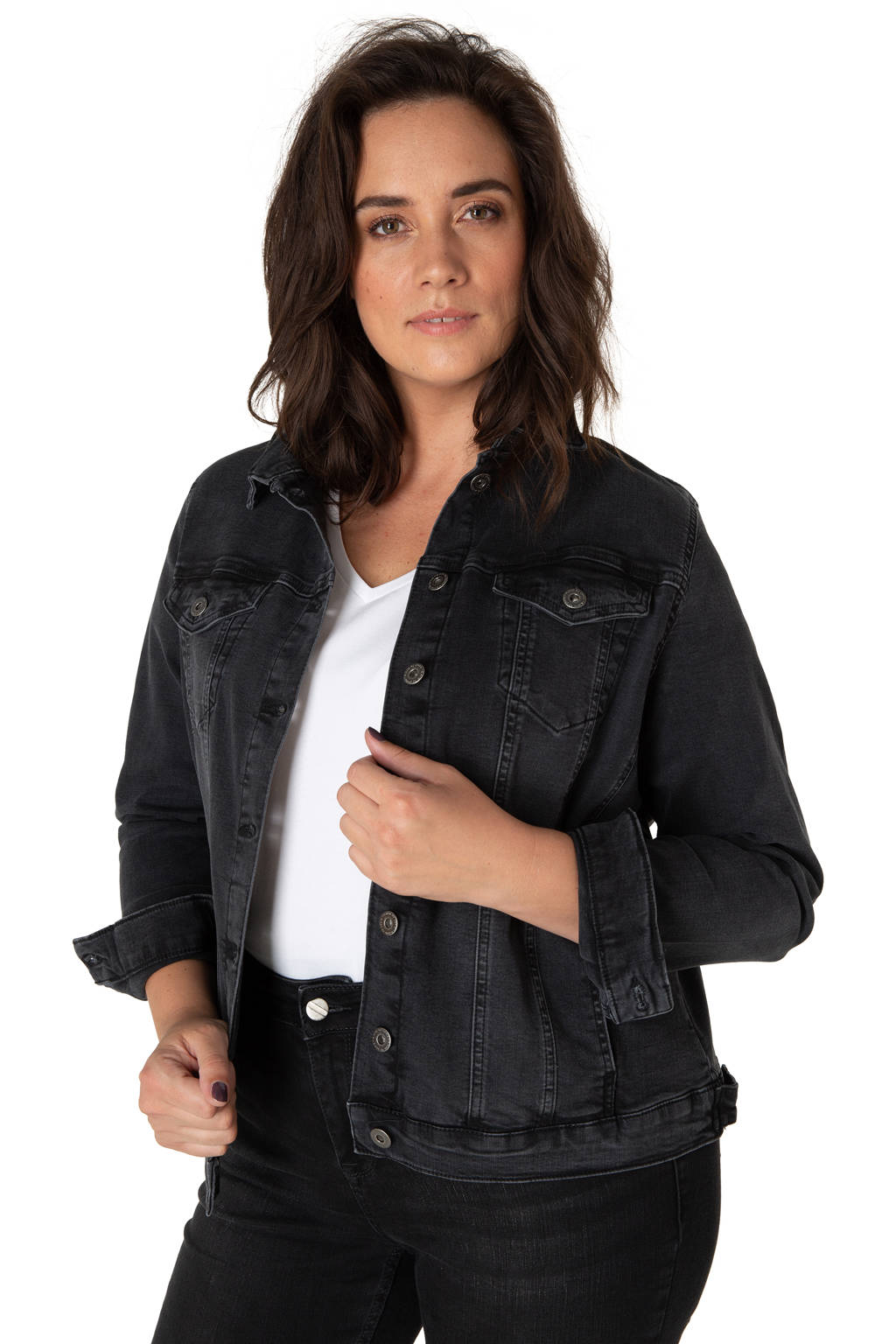 Yesta spijkerjasje 12005 - maggie grey rinse, 12005 - Maggie Grey Rinse